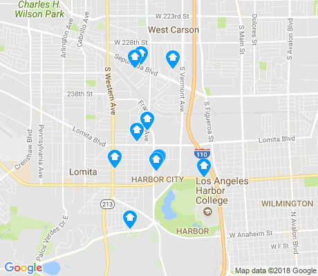 map of Harbor City apartments for rent