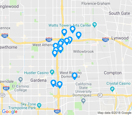 map of Harbor Gateway North apartments for rent