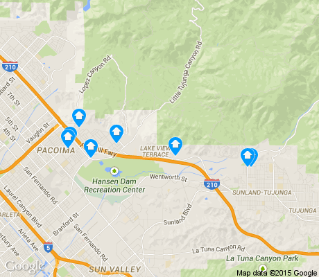 map of Lakeview Terrace apartments for rent