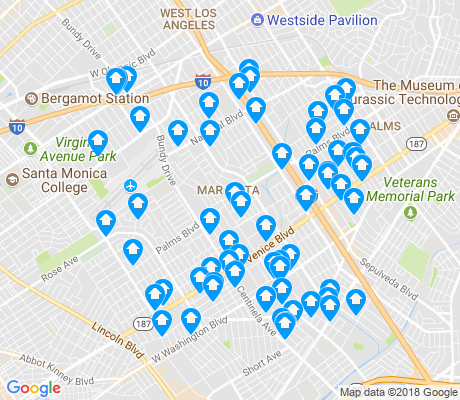 map of Mar Vista apartments for rent