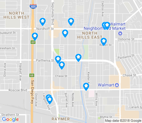 map of North Hills East apartments for rent