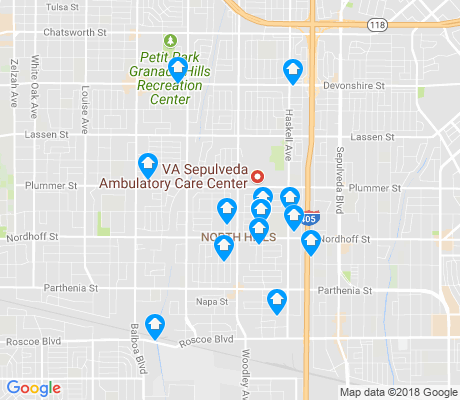map of North Hills West apartments for rent