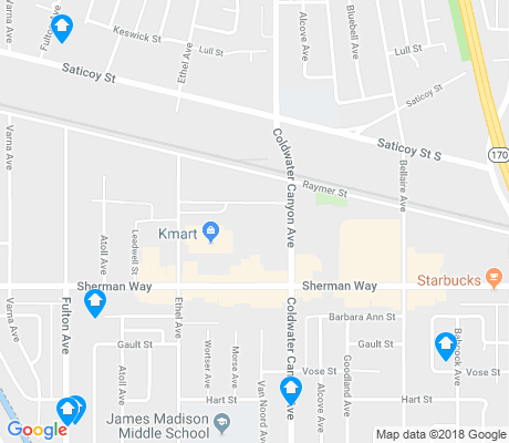 map of North Hollywood West apartments for rent