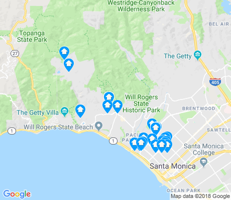 map of Pacific Palisades apartments for rent