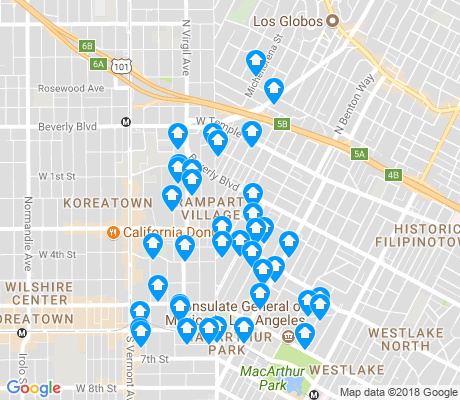 map of Rampart Village apartments for rent