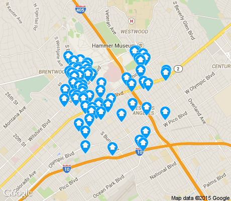 map of Sawtelle apartments for rent
