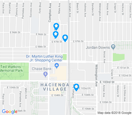map of Watts apartments for rent