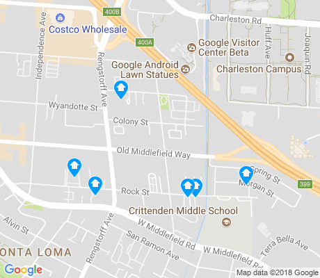 map of North Bayshore apartments for rent