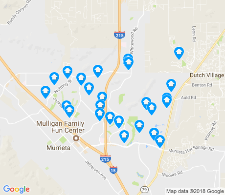 map of Murrieta apartments for rent