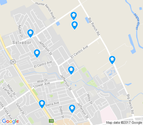 map of Vintage apartments for rent