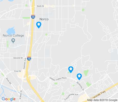 map of Norco apartments for rent