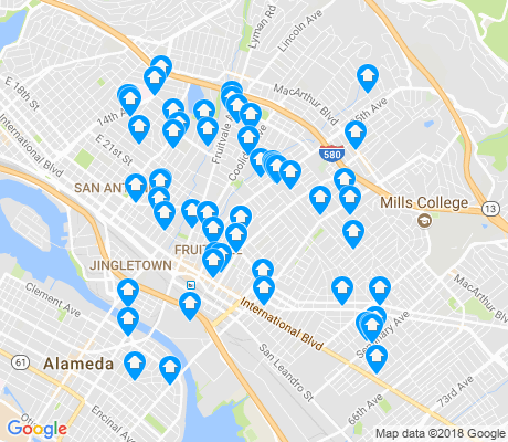 map of 94601 apartments for rent