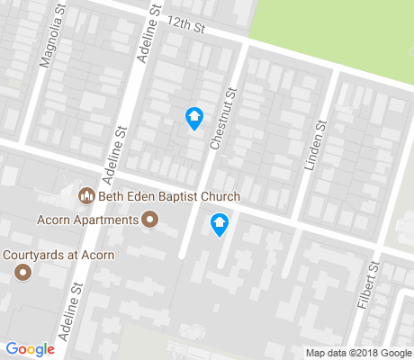 map of Acorn apartments for rent