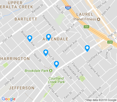 map of Allendale apartments for rent