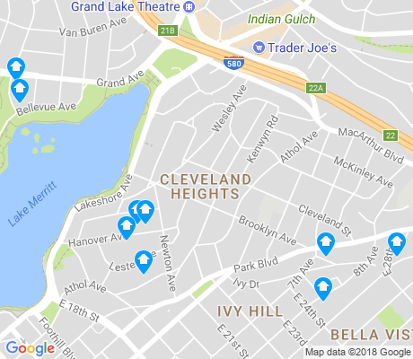 map of Cleveland Heights apartments for rent