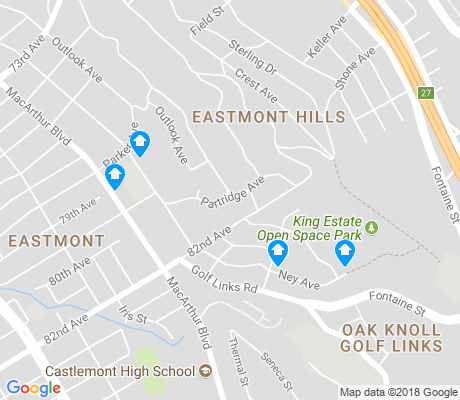 map of Eastmont Hills apartments for rent