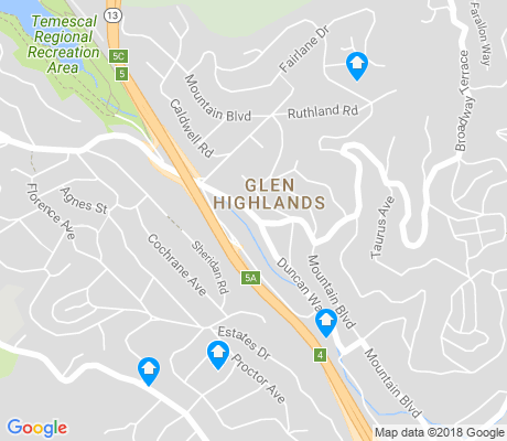 map of Glen Highlands apartments for rent