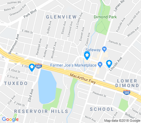 map of Glenview apartments for rent