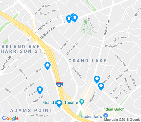 map of Grand Lake apartments for rent