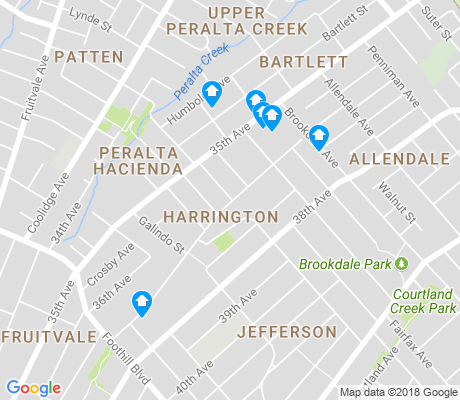 map of Harrington apartments for rent