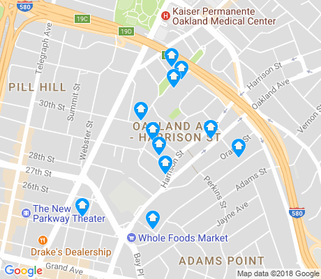 map of Harrison St-Oakland Ave apartments for rent