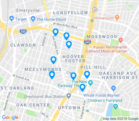 map of Hoover-Foster apartments for rent