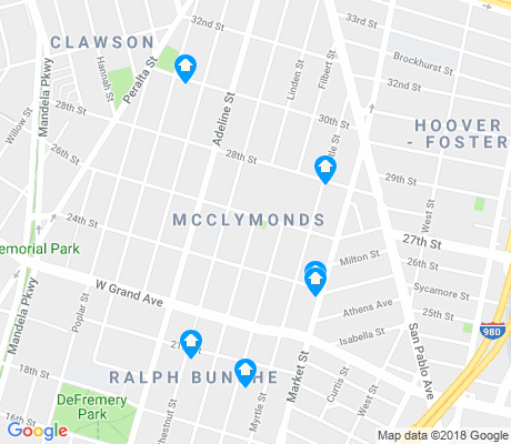 map of McClymonds apartments for rent