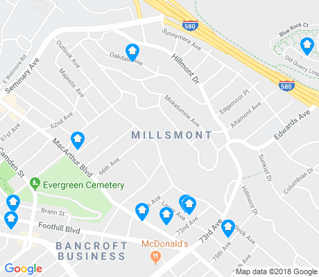 map of Millsmont apartments for rent