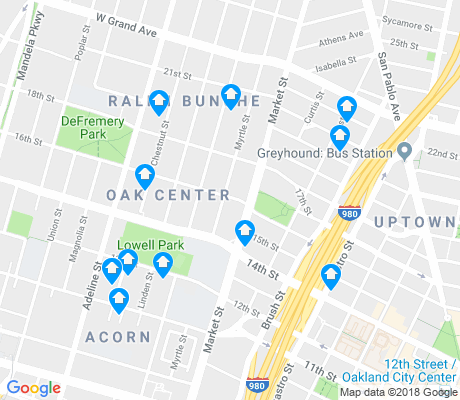 map of Oak Center apartments for rent