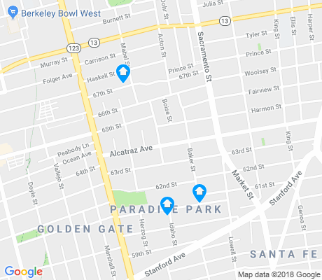 map of Paradise Park apartments for rent