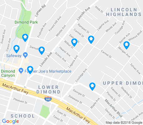 map of Upper Dimond apartments for rent