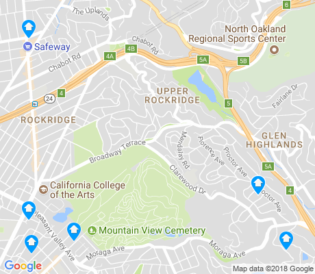 map of Upper Rockridge apartments for rent