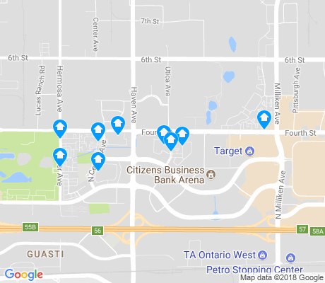 map of Ontario Center apartments for rent