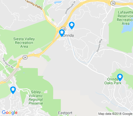 map of Orinda apartments for rent
