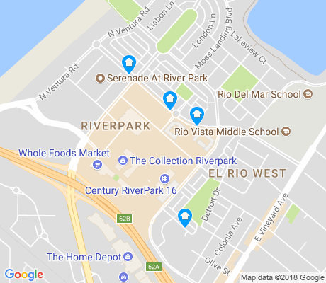 map of Town Center apartments for rent