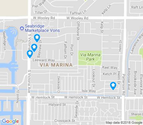 map of Via Marina apartments for rent