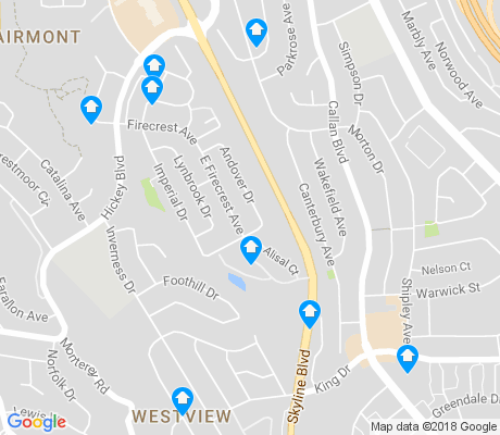 map of Westview-Pacific Highlands apartments for rent