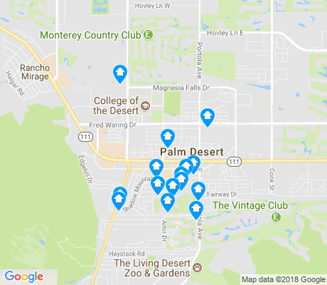 map of Palm Desert apartments for rent