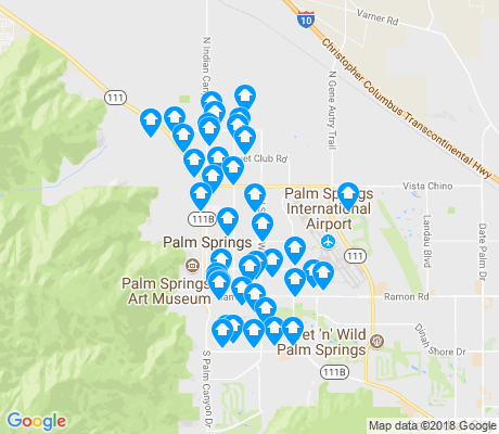 Map Of Palm Springs Ca on