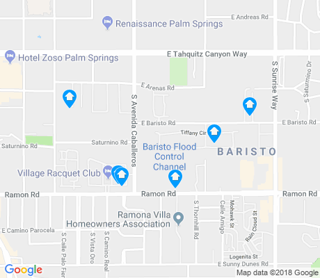 map of Baristo apartments for rent