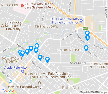 map of Crescent Park apartments for rent