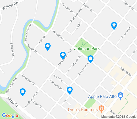 map of Downtown North apartments for rent