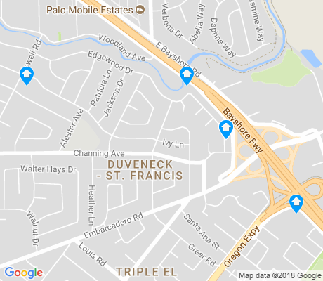 map of Duveneck - St. Francis apartments for rent
