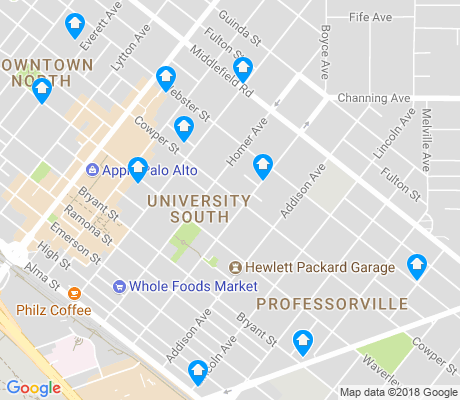 map of University South apartments for rent