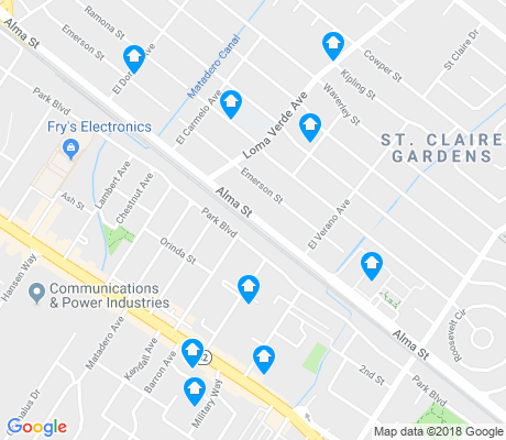 map of Ventura apartments for rent