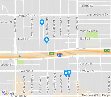 map of Catalina Villas apartments for rent