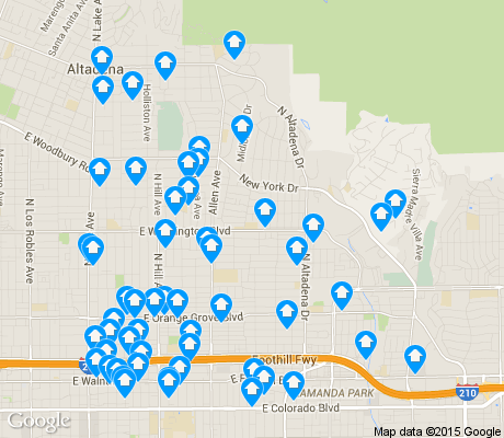 map of East Central apartments for rent