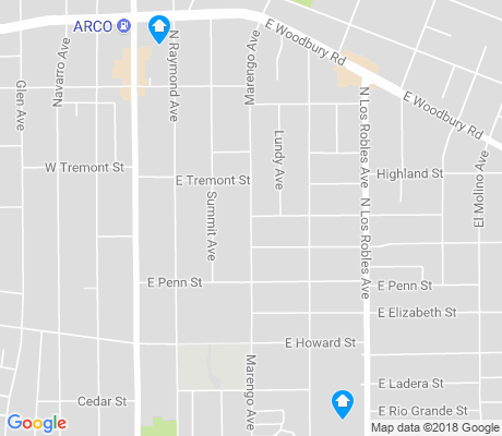 map of La Pintoresca Park apartments for rent