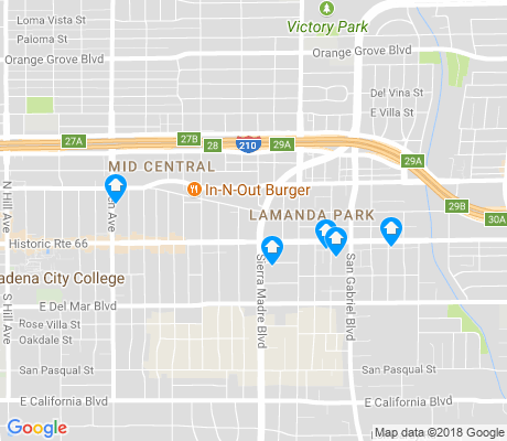map of Lamanda Park apartments for rent