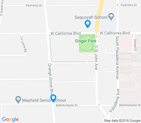 map of Singer Park apartments for rent